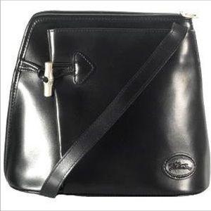 Vintage longchamp black Roseau bucket bag